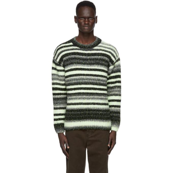 Photo: 032c Black and Yellow Knit Logo Sweater