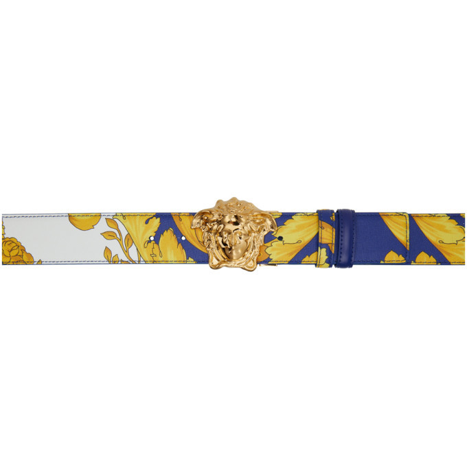 Photo: Versace Blue and Gold Barroco Belt