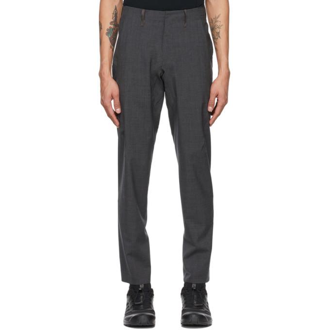 Photo: Veilance Grey Wool Haedn LT Trousers