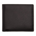 Smythson Black 4CC Panama Bifold Wallet
