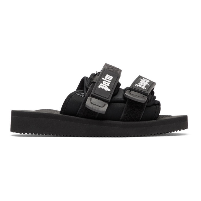 Photo: Palm Angels Black Suicoke Edition Nylon Slides