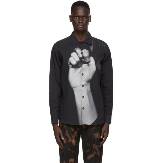 Photo: 032c Black Print Photo Shirt