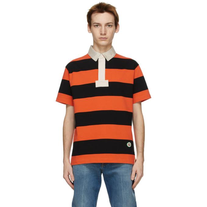 Photo: Gucci Orange Striped Polo