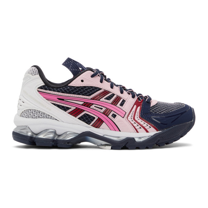 Photo: Asics Navy and Pink UB1-S Gel-Kayano 14 Sneakers