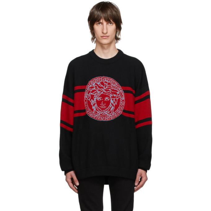 Photo: Versace Black Wool Medusa Sweater