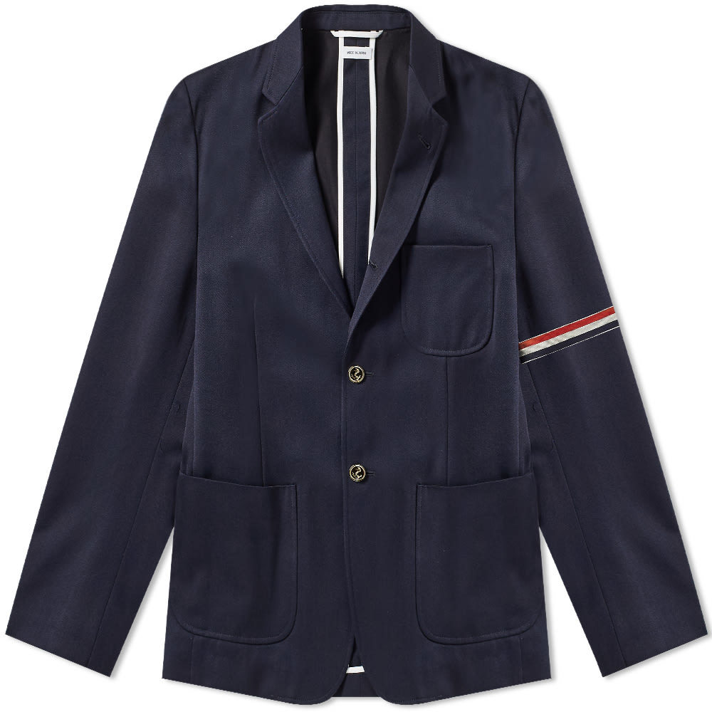 Photo: Thom Browne Unconstructed Patch Pocket Blazer