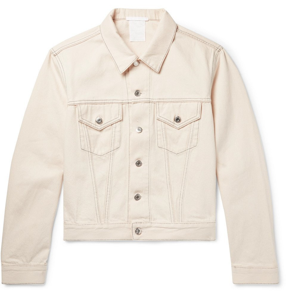 Photo: Helmut Lang - Denim Trucker Jacket - Men - White