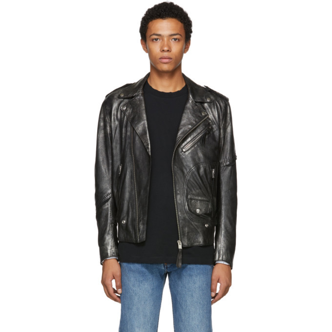 Photo: Diesel Black L-Ingran Leather Jacket
