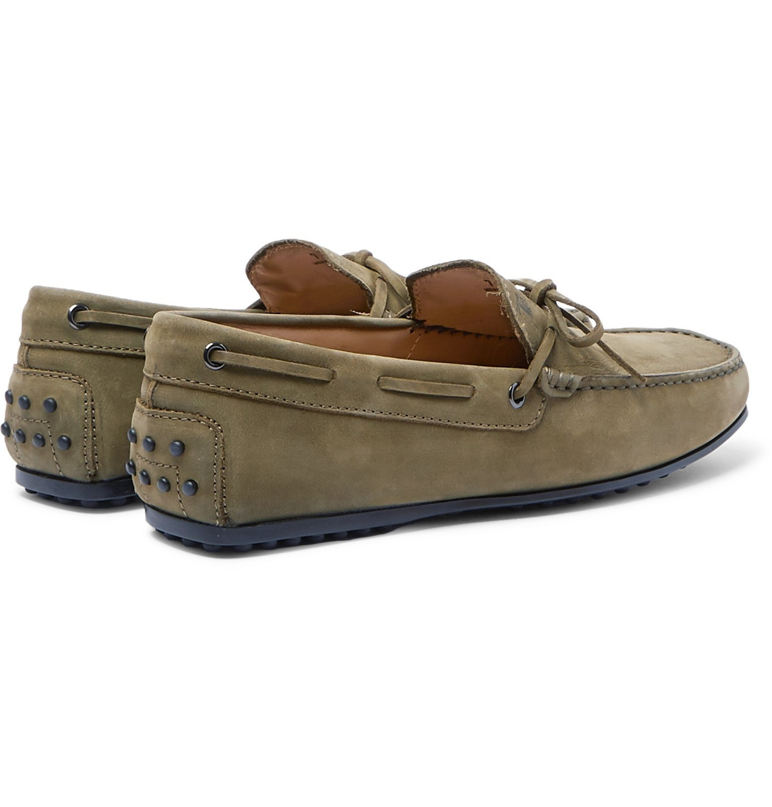 Tod's - City Gommino Nubuck Driving Shoes - Green