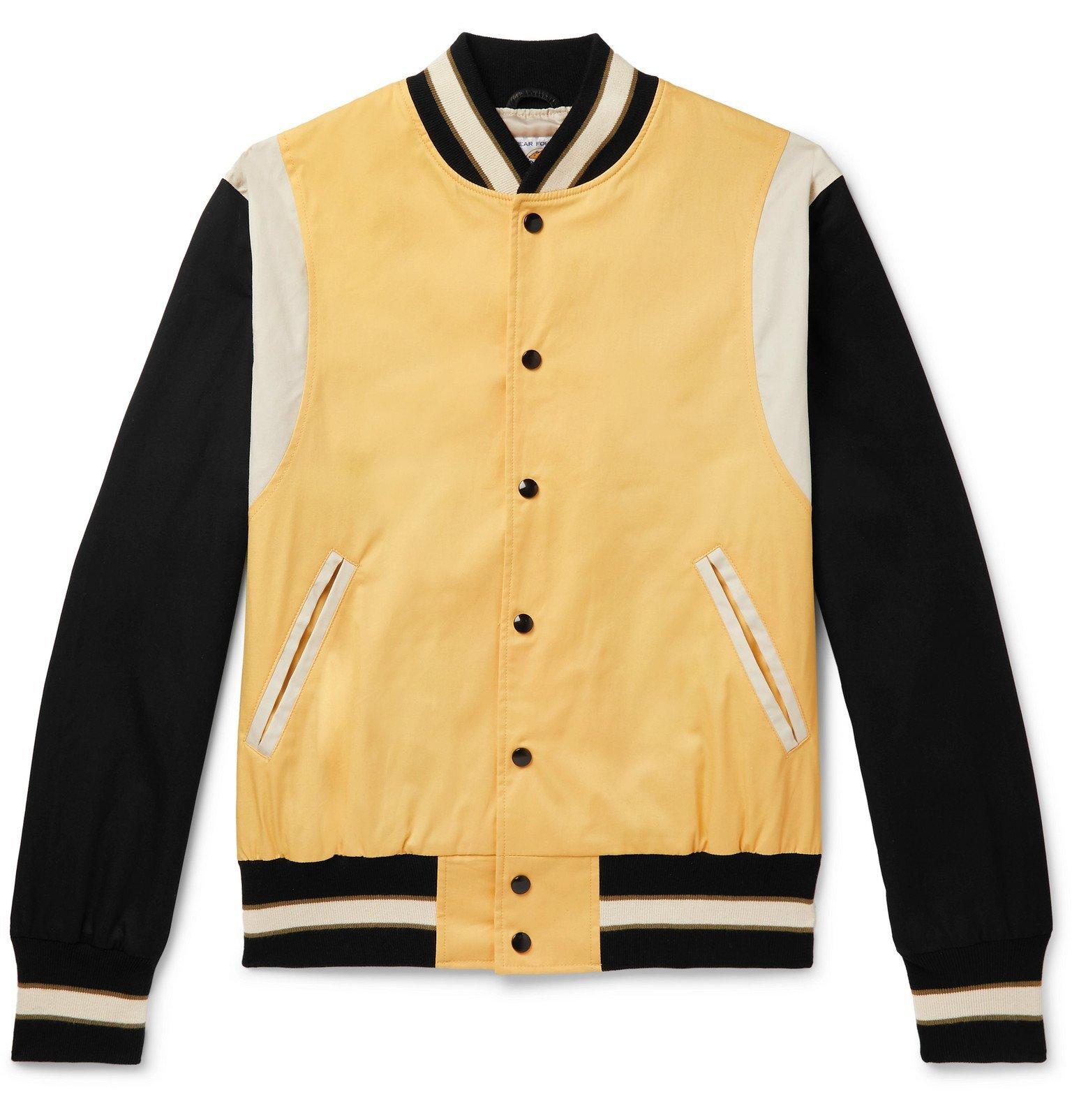 Photo: Golden Bear - The Jackson Panelled Cotton-Twill Bomber Jacket - Yellow