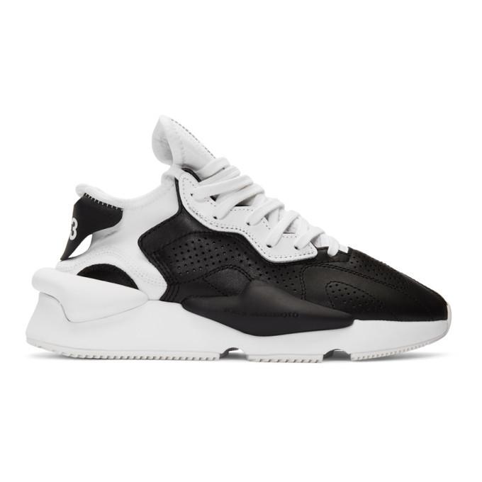 Photo: Y-3 Black and White Kaiwa Sneakers