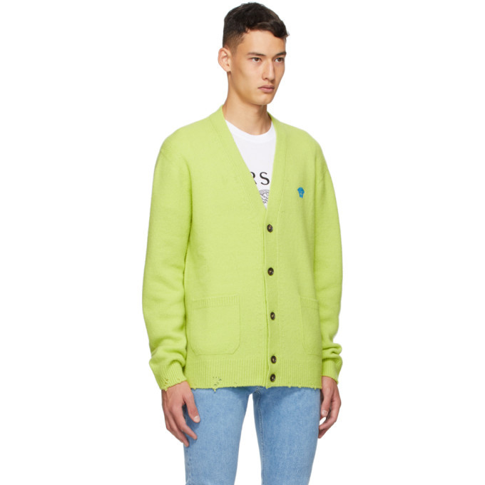 Versace Green Silk and Cashmere Cardigan