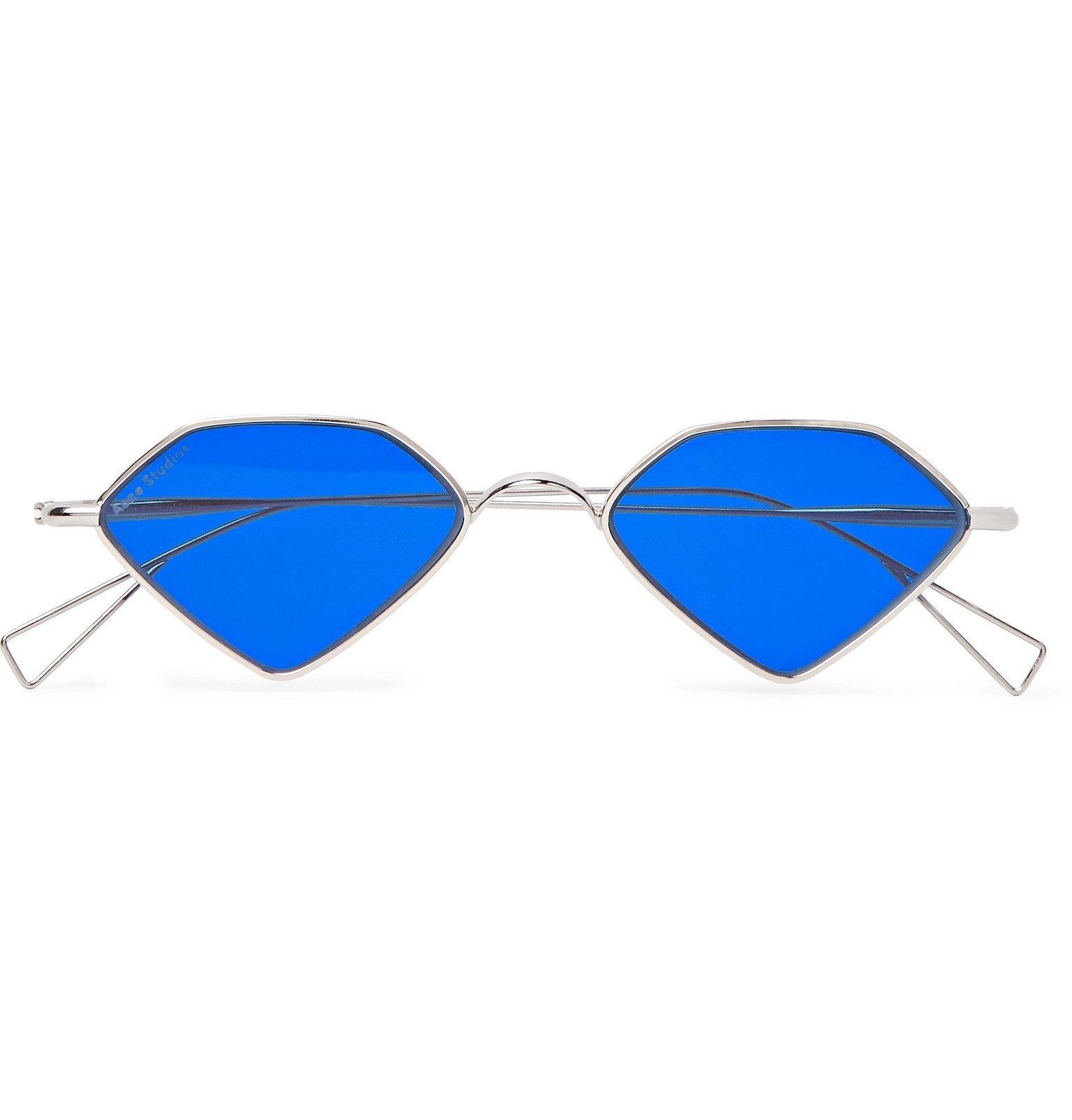 Photo: Acne Studios - Arty Diamond Silver-Tone Sunglasses - Silver