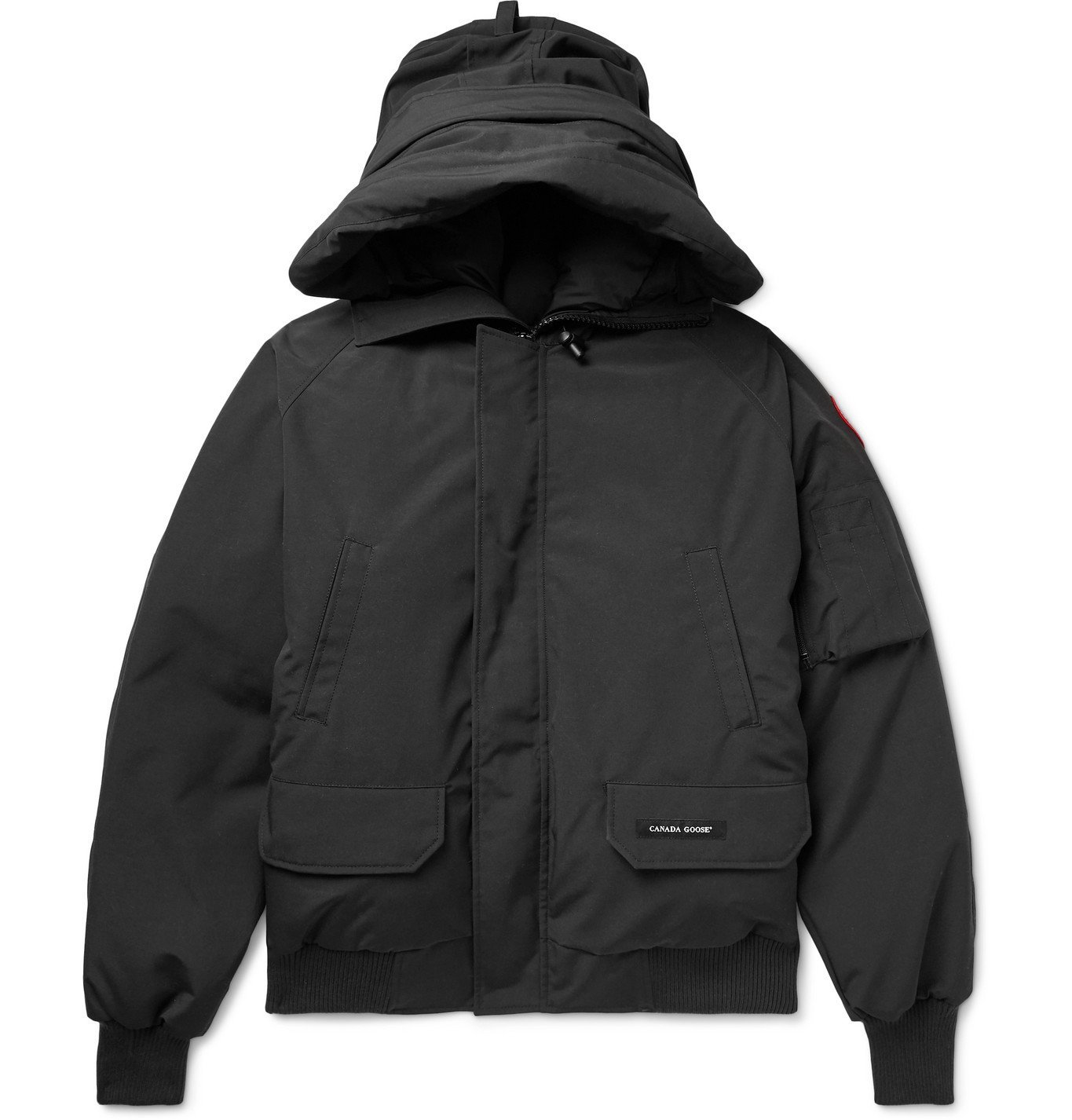 Photo: Canada Goose - Chilliwack Hooded Arctic Tech Down Jacket - Black