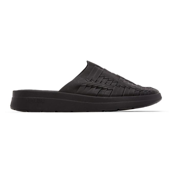 Photo: Malibu Sandals Black Vegan Leather Thunderbird Sandals