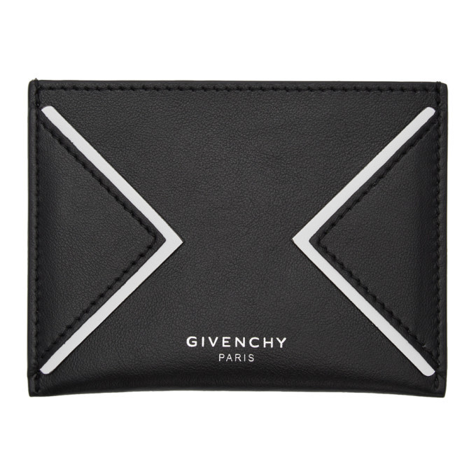 Photo: Givenchy Black and White V Lines Card Holder