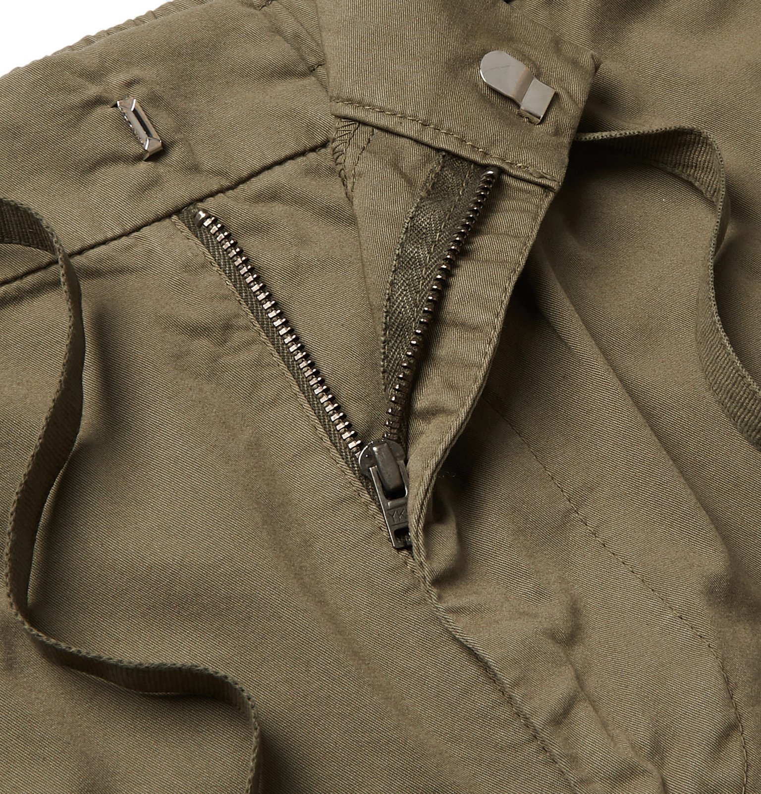Officine Generale - Jay Slim-Fit Tapered Cotton-Blend Cargo Trousers - Green