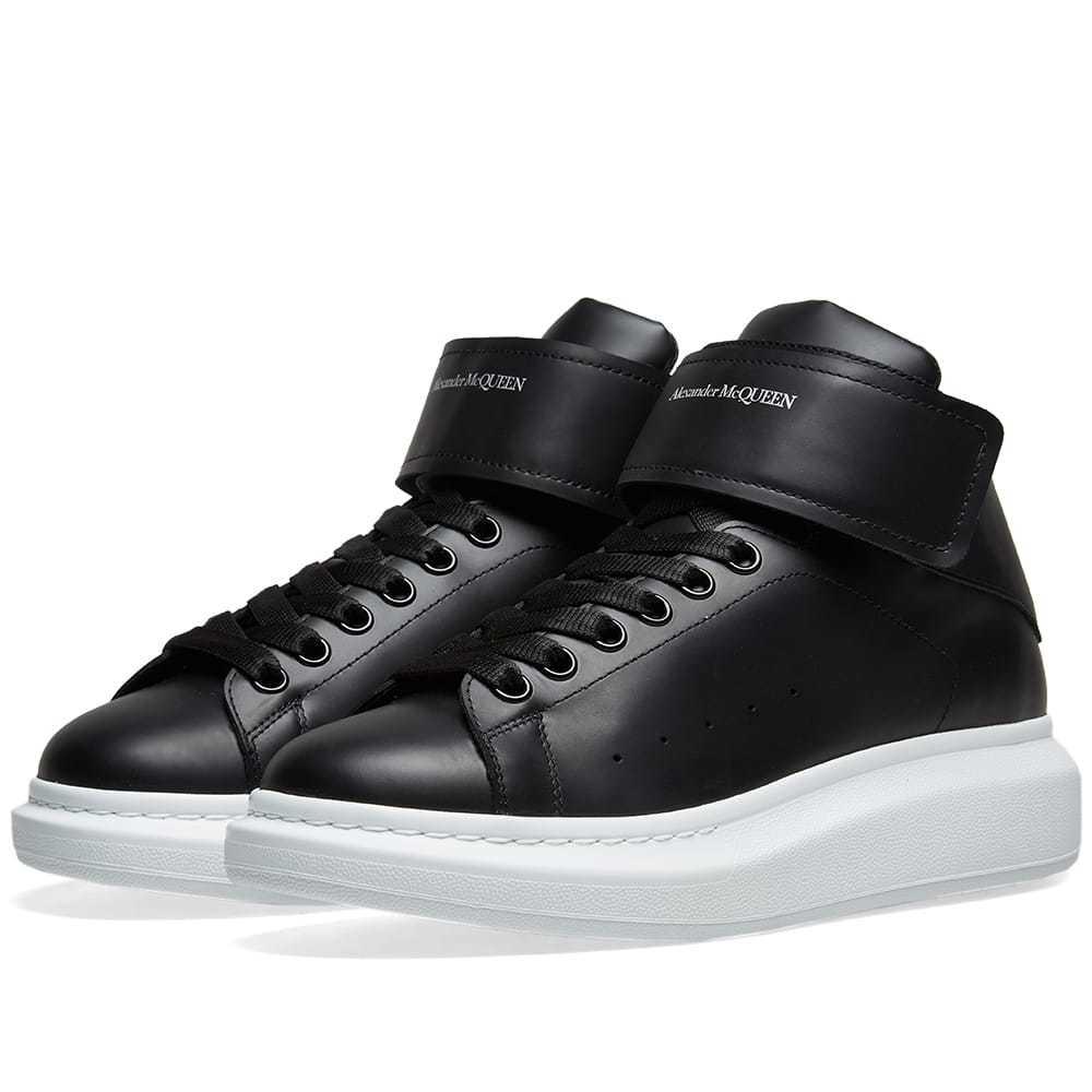 Photo: Alexander McQueen Hi Top Strap Wedge Sole Sneaker