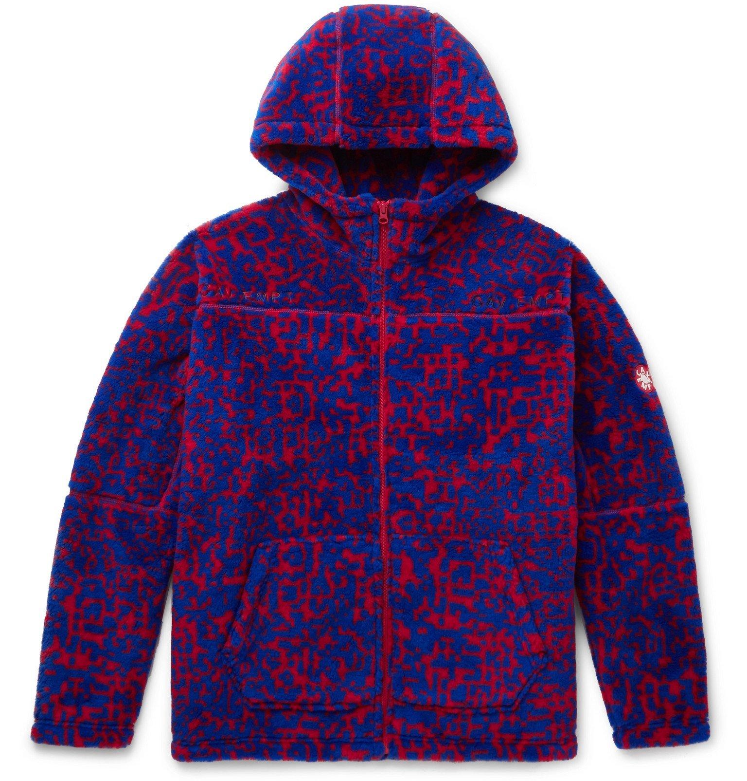 Photo: Cav Empt - Printed Fleece Zip-Up Hoodie - Blue