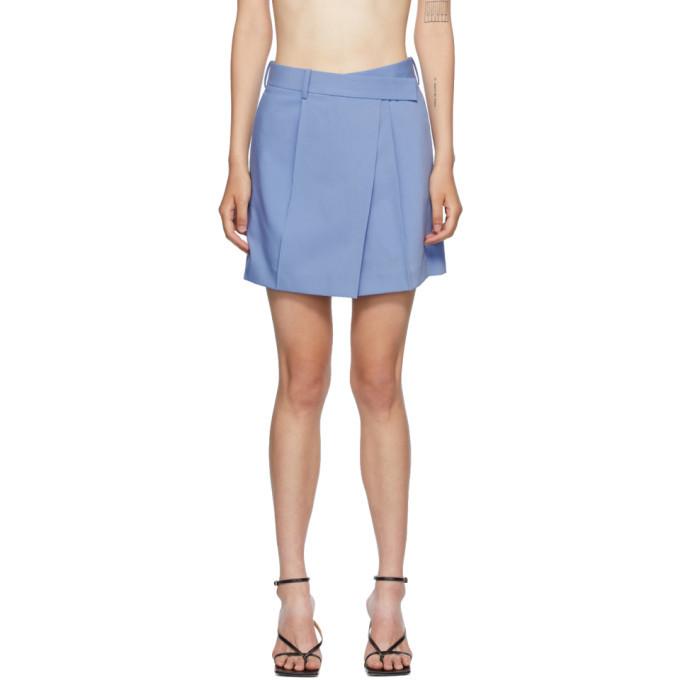 Photo: Helmut Lang Blue Wrap Skirt