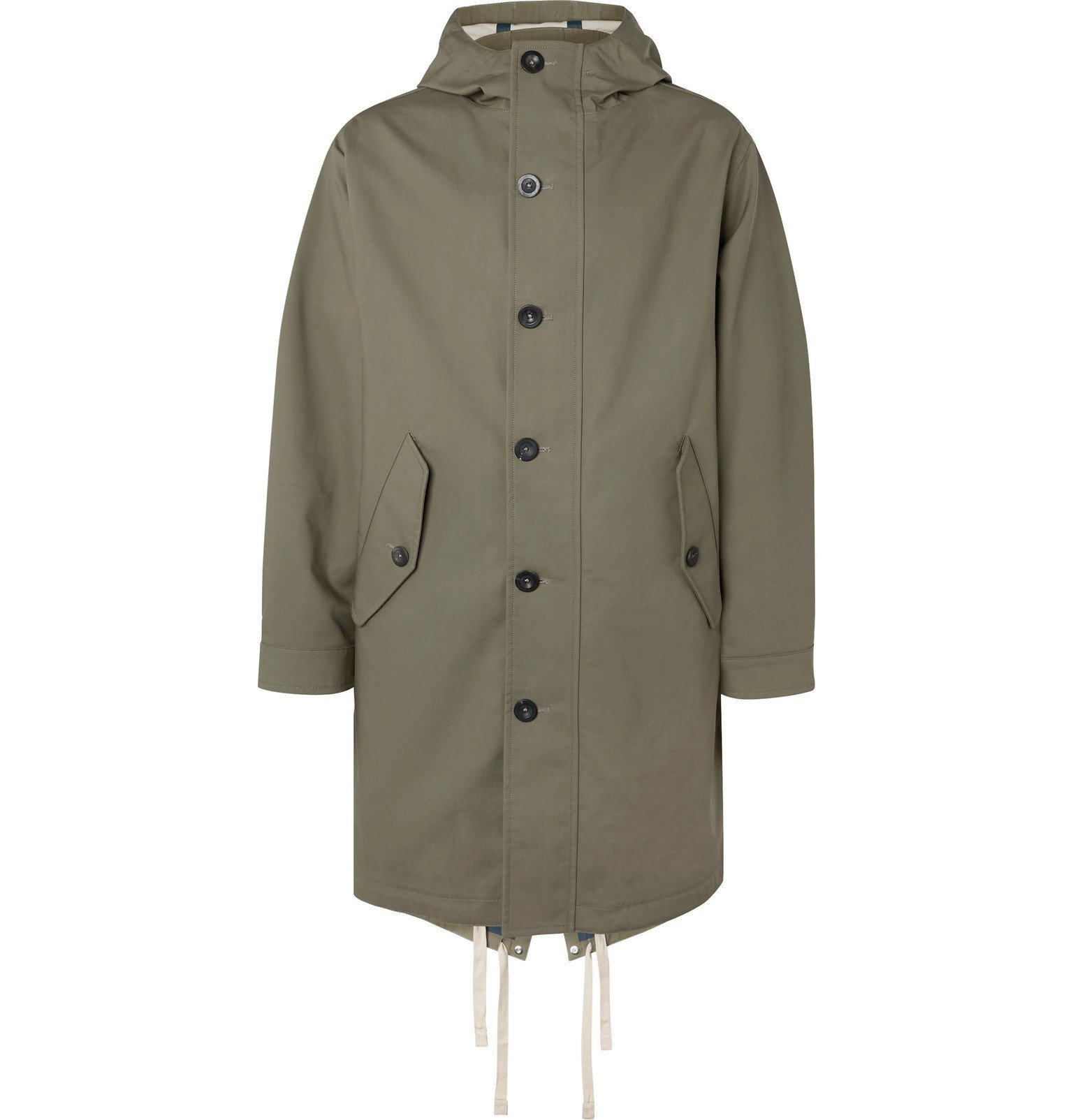 Photo: Mr P. - Oversized Bonded-Cotton Hooded Parka - Green