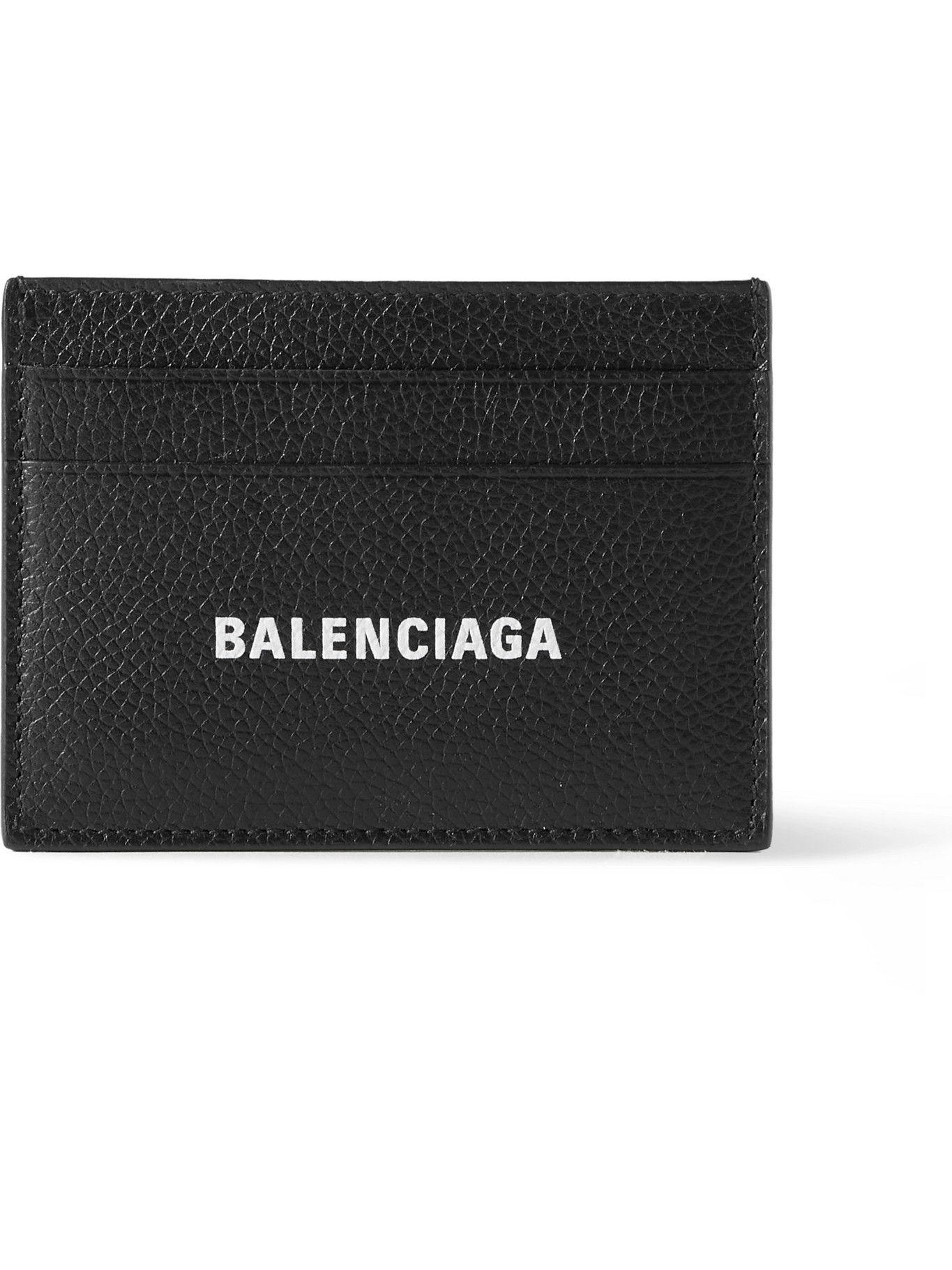 BALENCIAGA - Logo-Print Full-Grain Leather Cardholder