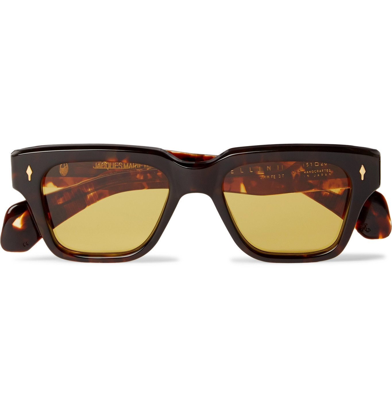 Photo: Jacques Marie Mage - Fellini Square-Frame Tortoiseshell Acetate Sunglasses - Brown
