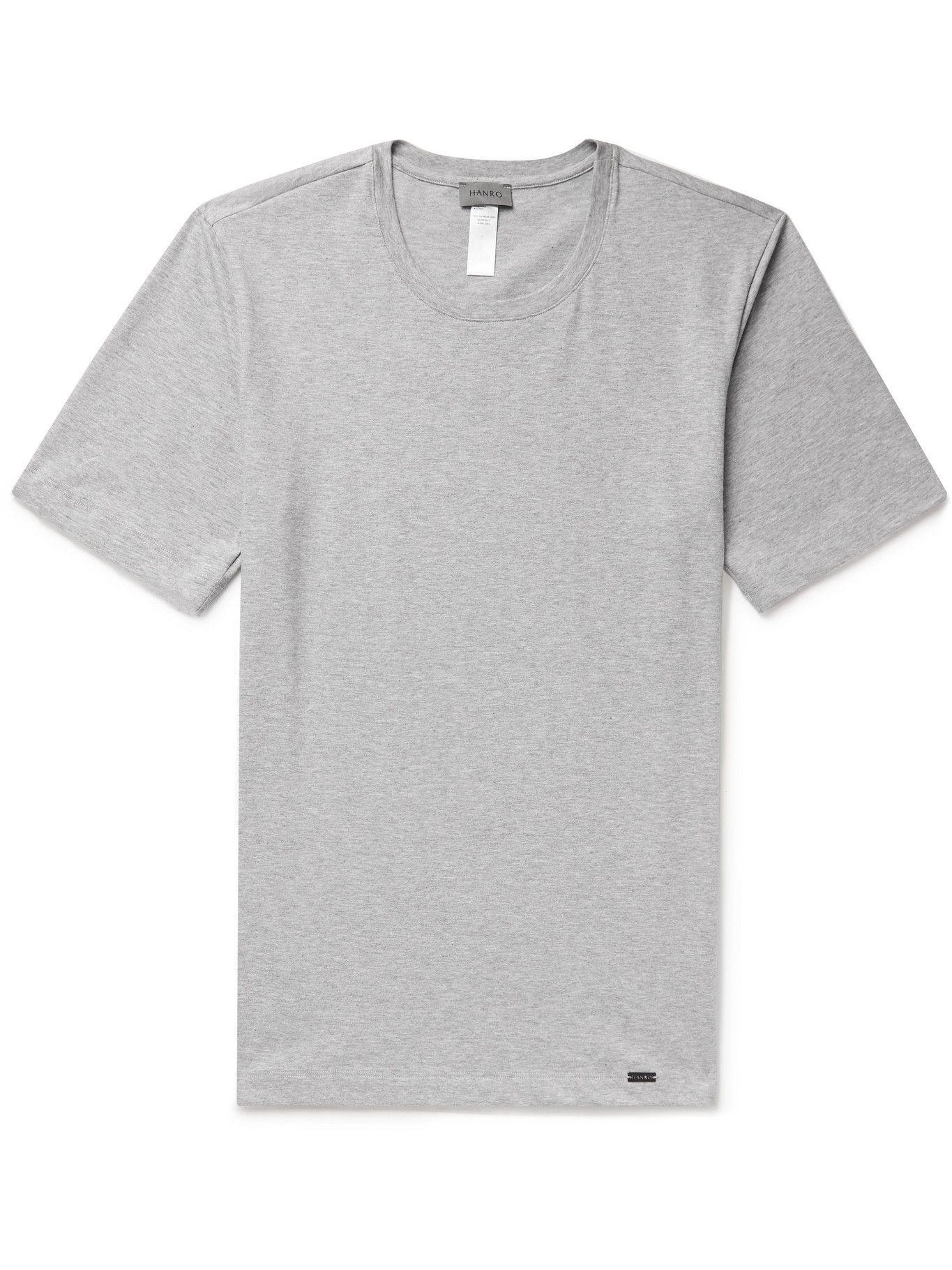 Hanro - Living Cotton-Jersey T-Shirt - Gray