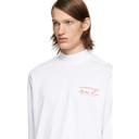 Martine Rose White Funnel Neck Long Sleeve T-Shirt