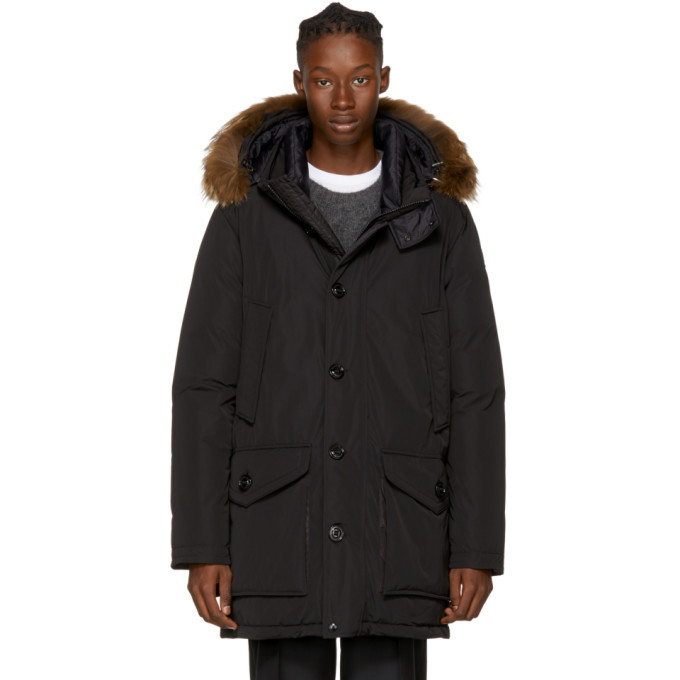 Photo: Moncler Black Down River Parka