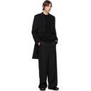 Giorgio Armani Black Cashmere and Silk Kangaroo Pocket Sweater