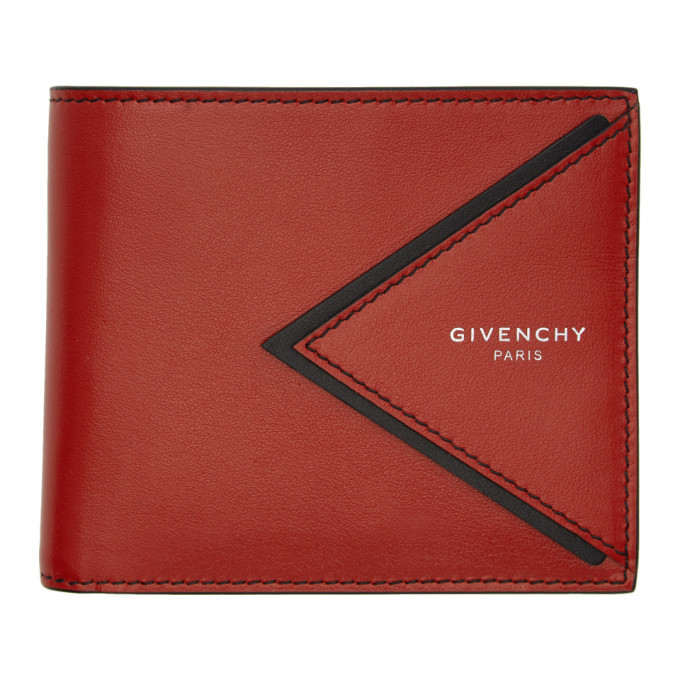 Photo: Givenchy Red V-Shape Cut Bifold Wallet