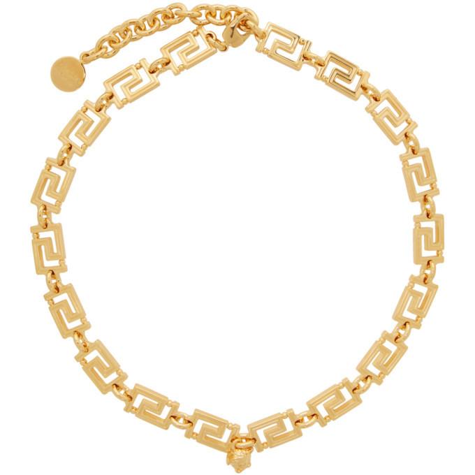 Photo: Versace Gold Logo Link Necklace