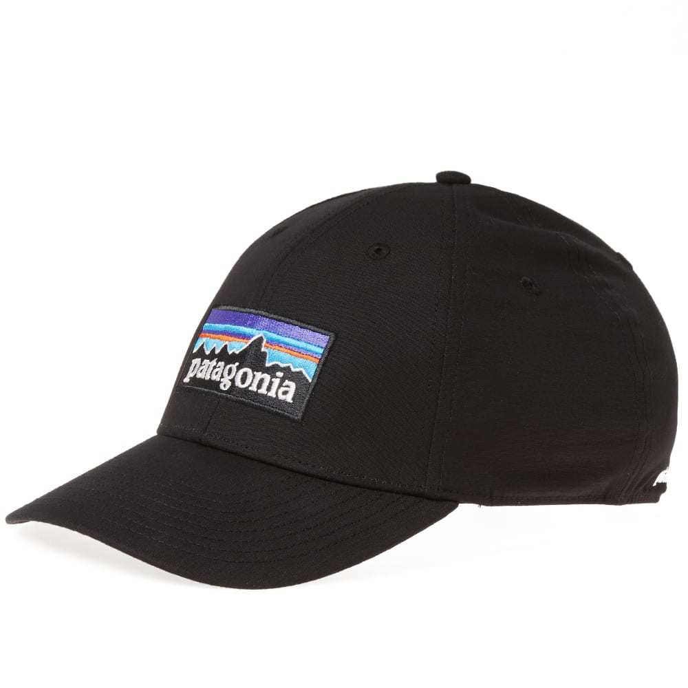 Photo: Patagonia P-6 Logo Stretch Fit Cap Black
