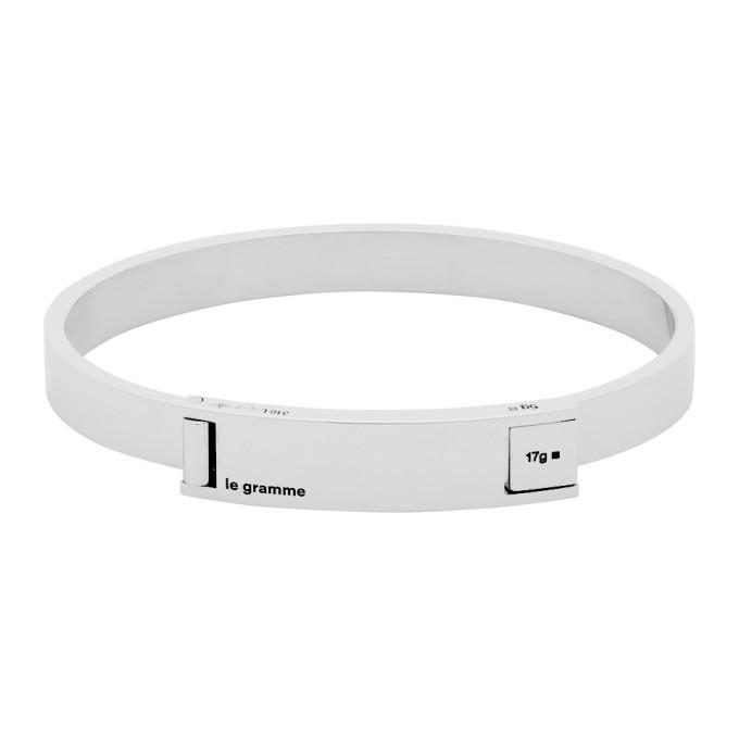 Photo: Le Gramme Silver Slick Polished Assemblage Le 21 Grammes Ribbon Bracelet