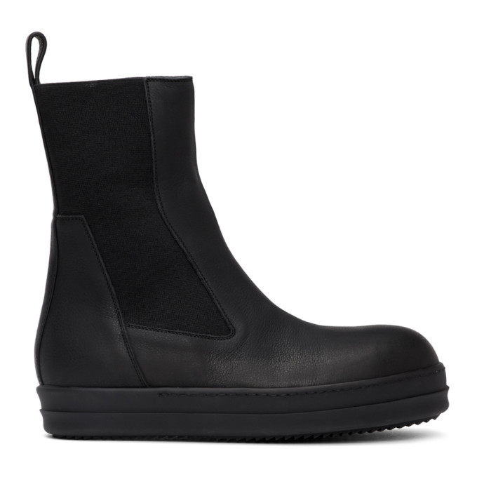 Photo: Rick Owens Black Bozo Chelsea Boots