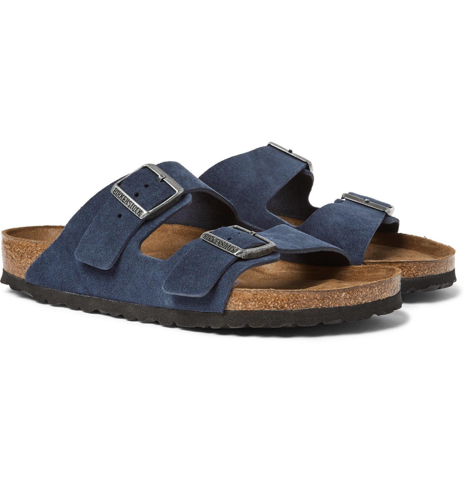 Photo: Birkenstock - Arizona Suede Sandals - Blue