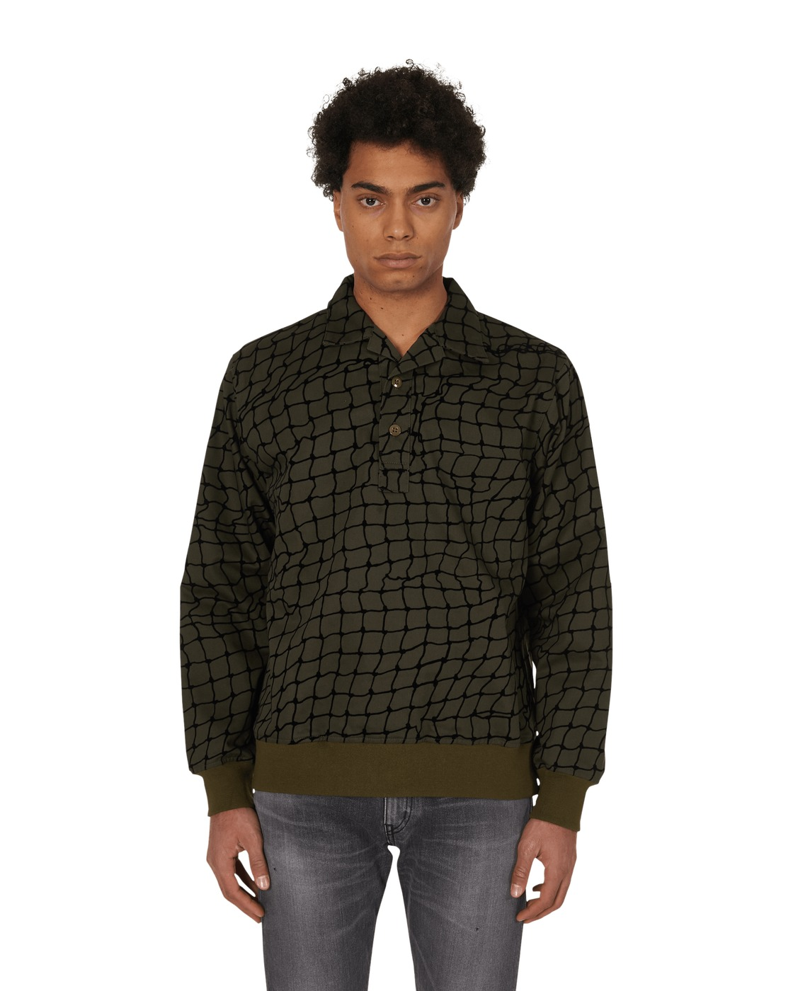 Photo: Neighborhood Flock Pull C Shirt Sweatshirt Olive Drab