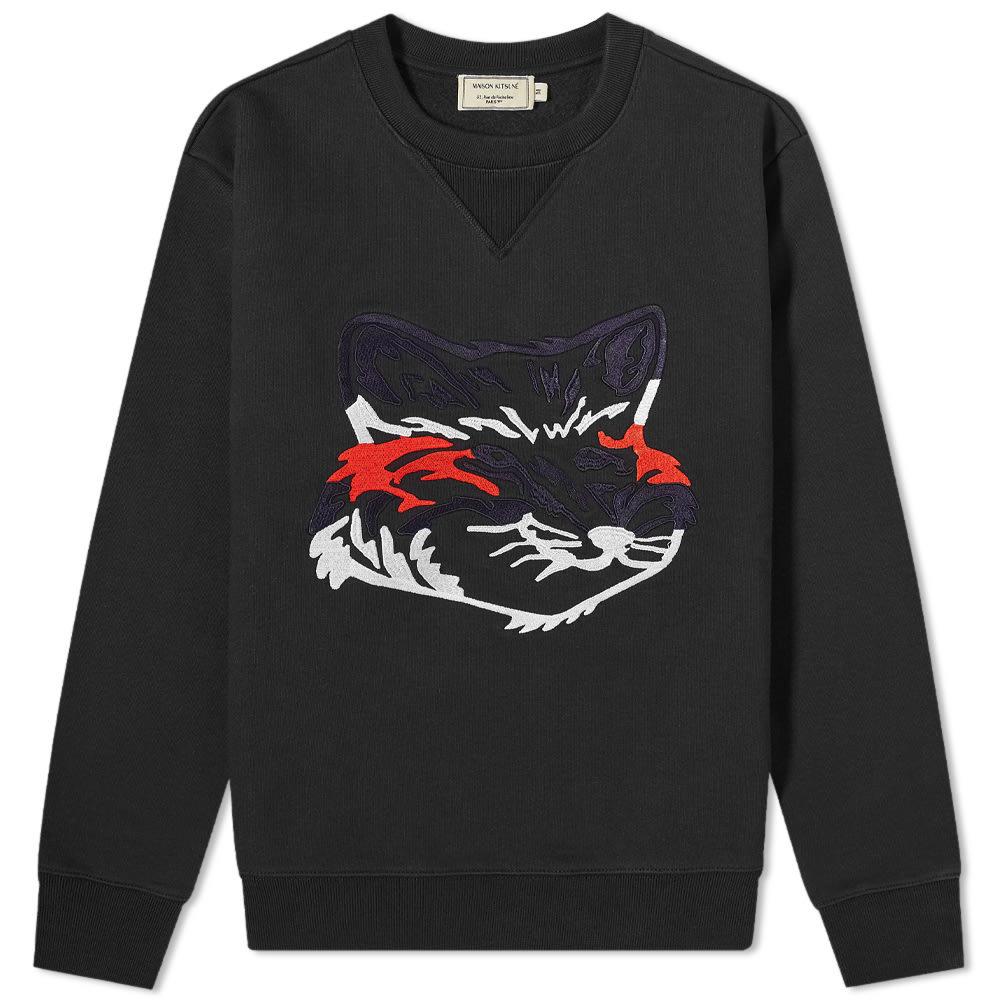 Photo: Maison Kitsuné Big Fox Embroidery Regular Crew Sweat