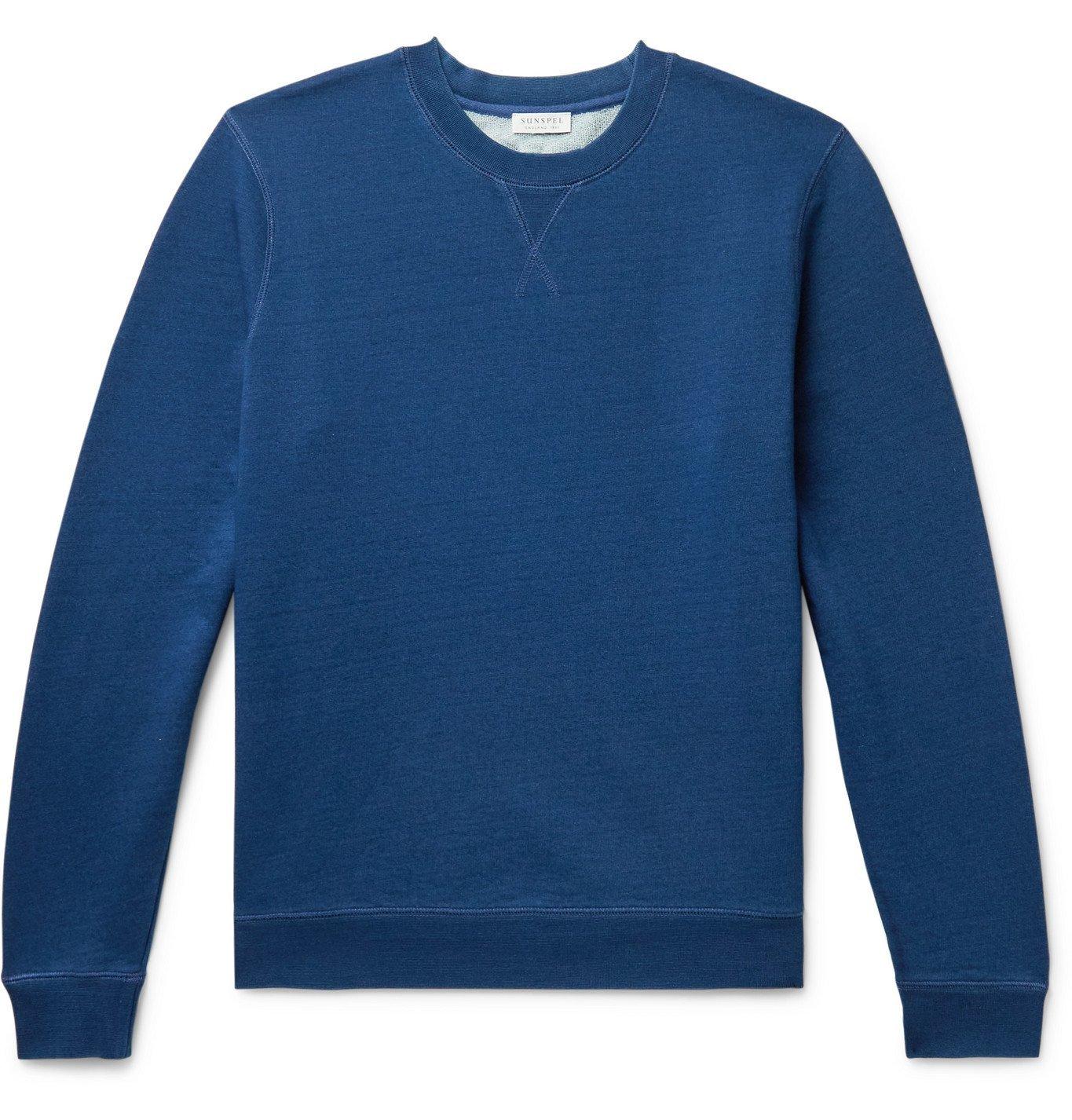 Photo: SUNSPEL - Loopback Cotton-Jersey Sweatshirt - Blue