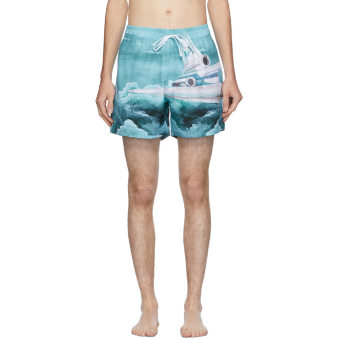 Photo: Amiri Blue Airplane Swim Trunks