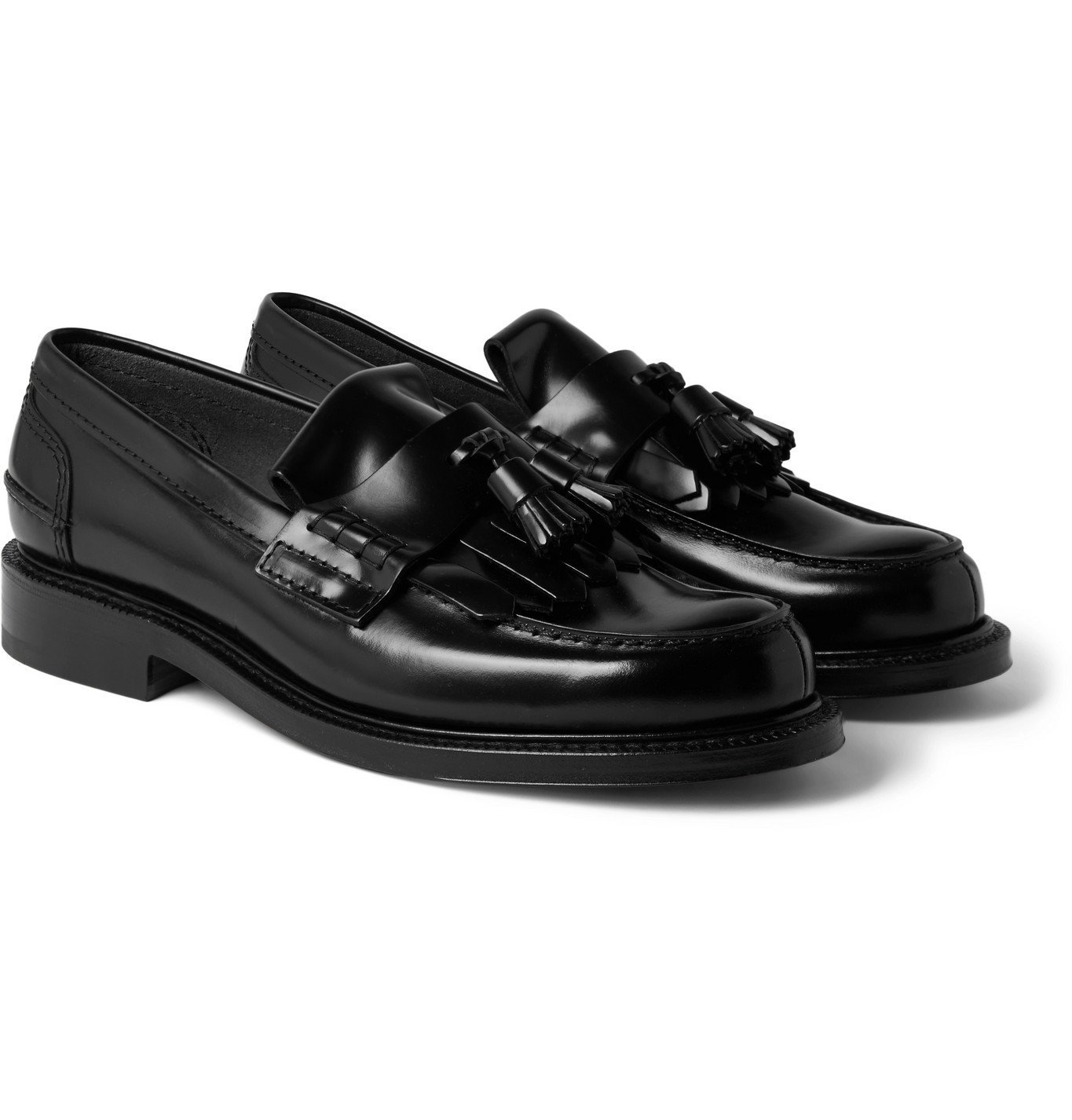 Photo: Church's - Tennant Bookbinder Fumè Leather Tasselled Loafers - Black