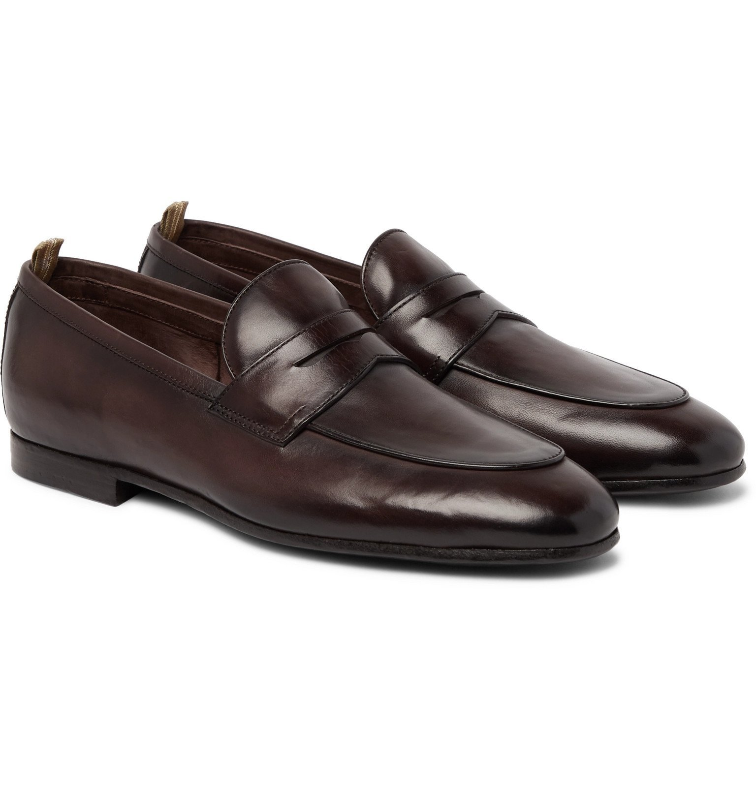 Photo: Officine Creative - Byron Leather Penny Loafers - Brown