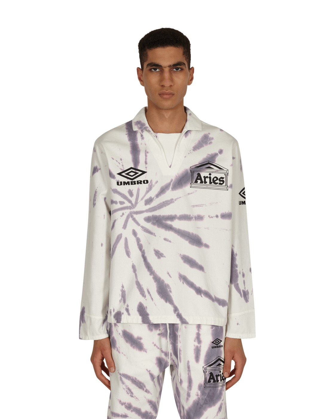 Aries Umbro Tie Dye Pro 64 Pullover White/Dusk
