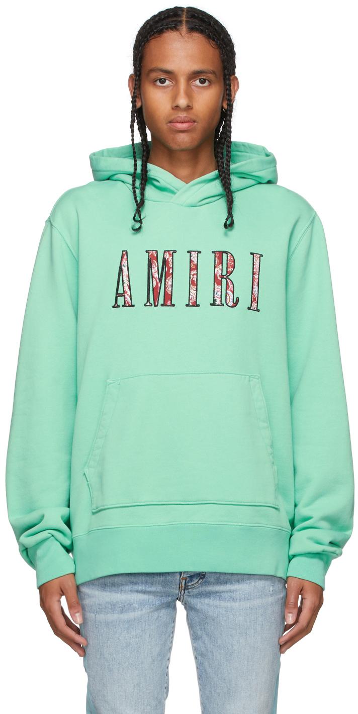 Photo: AMIRI Green Paisley Core Logo Hoodie