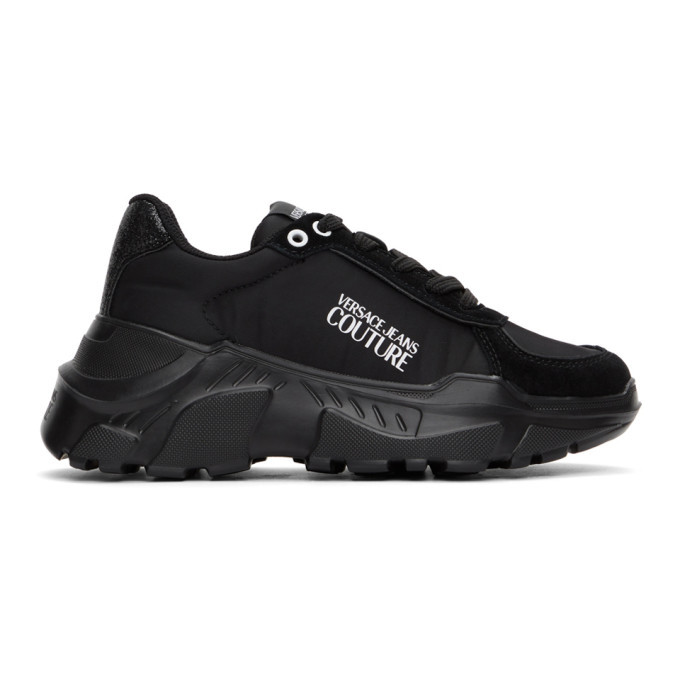 Photo: Versace Jeans Couture Black Institutional Logo Sneakers