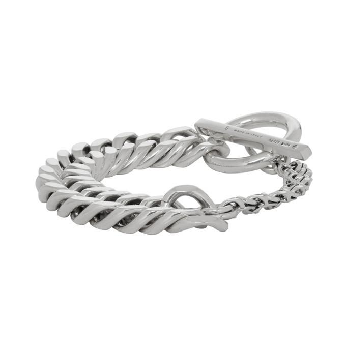 Bottega Veneta Silver Curb Chain Bracelet