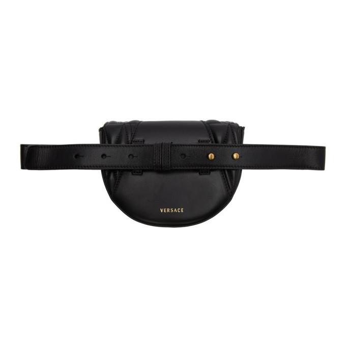 Versace Black Quilted Virtus Belt Bag