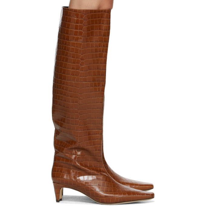 Photo: Staud Brown Croc Wally Boots