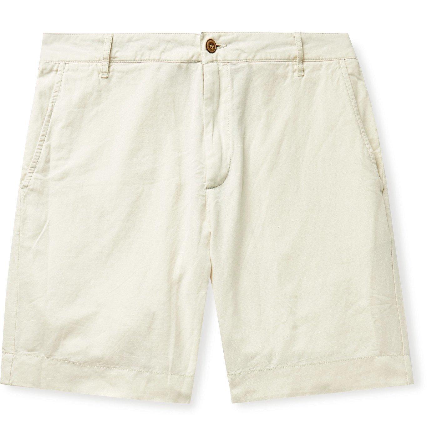 Photo: Faherty - Malibu Slub Linen and Cotton-Blend Shorts - Neutrals